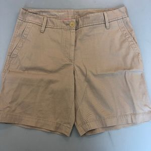 Talbots Girlfriend Chino Khaki shorts size 2 B10